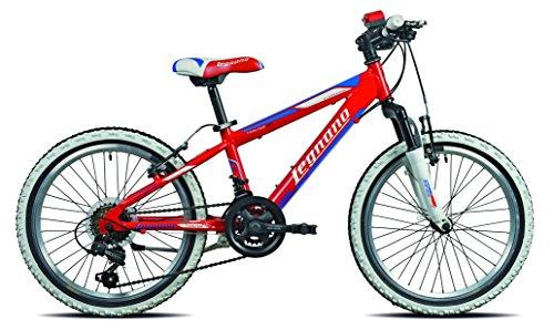 Legnano Ciclo 670 Twister, Bicicletta Bambini, Rosso, 20