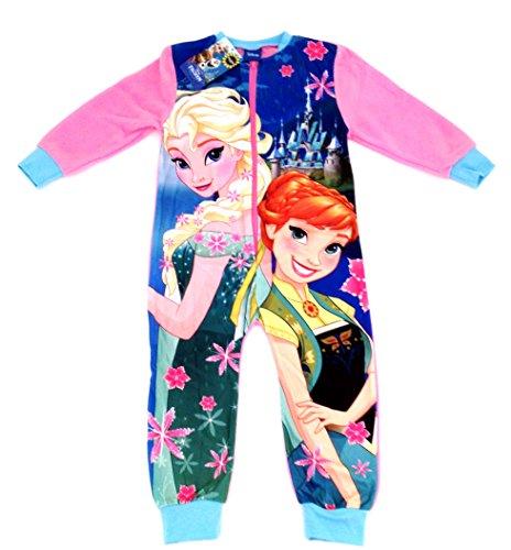 AW-2015-Girls-Disney-FROZEN-FEVER-FLEECE-onesie-sleepsuit-all-in-one-pyjamas-Ages-23-45-56-78yrs