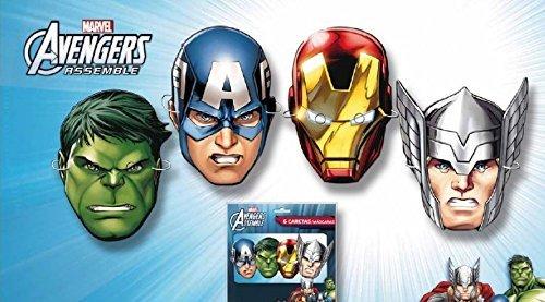 Los Vengadores - 6 caretas superheroes, bolsa (Verbetena 01430006