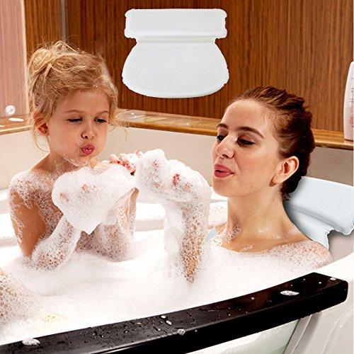 COCOCITY Badewannenkissen weiches Badekissen Wasserdicht Nackenpolster badewanne Rutschfeste Wannenkissen mit 7 Starke Saugnäpfen Kopfkissen für Männer und Frauen SPA zur Erholung