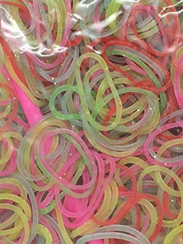 Ateam Loom Bandz, Gummibänder in verschiedenen Farben, 600 Stück, inklusive 25 Klammern Silicone (Gummibänder Tie Dye)