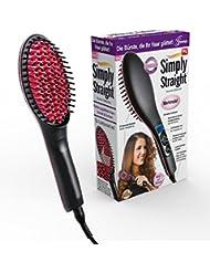 Genius Simply Straight Keramik Haar-Glätt-Bürste   2 in 1 Glätteisen & Bürste   LCD-Aturanzeige bis 230 °C   Bekannt aus TV   NEU