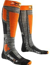 X-Socks Chaussettes de ski pour homme Rider 2.0, Grey, Homme, X-SOCKS SKI RIDER 2.0, Grey