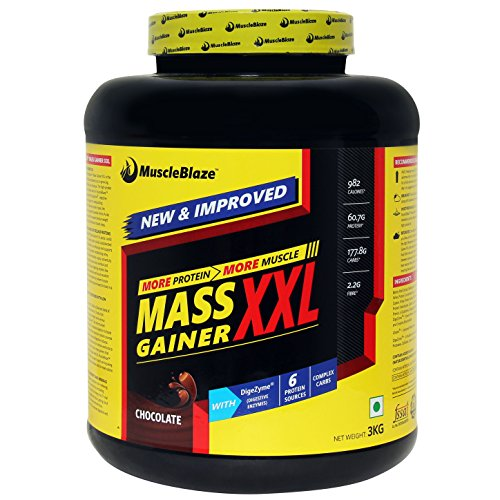 MuscleBlaze Mass Gainer XXL, Chocolate 3kg / 6.6 lbs