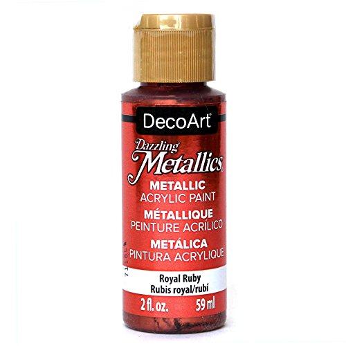 DecoArt Americana Acrylic Metallic Paint, Royal Ruby Royal Ruby
