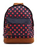 Mi-Pac All Polka Rucksack/ Casual Daypack 17 Litres, Navy Blue/ Bright Red 740199-344
