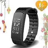 Joygeek frequenza cardiaca Smart Wristband attività fitness tracker sonno monitor pedometro calorie impermeabile Bluetooth sport Band braccialetto per Android iOS iPhone