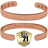 Polished Oval Magnetic Copper Bracelet for Arthritis Relief - Pure Copper, 8 Magnets, Adjustable Bangle - For... preisvergleich bei billige-tabletten.eu