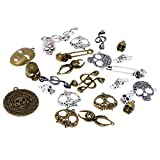 #4: Generic Assorted Antique Skull Charm Pendant Lot Connector Jewelry DIY Craft 100g