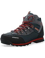GNEDIAE Zapatillas de Senderismo Hombre Big Size Leather Lace-ups Trail Camping Sneaker para Outdoor