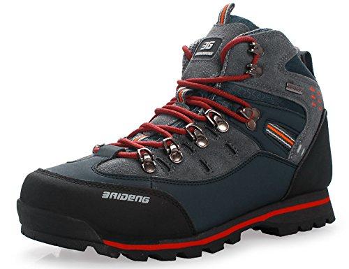 GNEDIAE Zapatillas de senderismo Hombre Big Size Leather Lace-ups Trail Camping Sneaker para Outdoor Walking Travel Zapatos Botas de Trabajo 40-46
