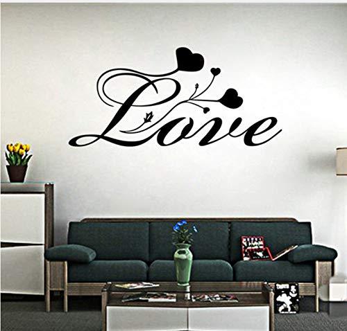 n Liebe Wandaufkleber Zitat LiebhaberHerzformblumen Monogramm Dekorative Wand Poster Papel DePara Quarto57X27Cm ()