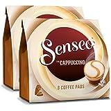 Senseo Kaffeepads Cappuccino, Milchschaumklassiker, Kaffee, neue Rezeptur, 2er Pack, 2 x 8 Pads