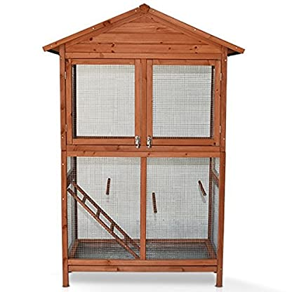 animalmarketonline Aviary Bird Cage Protect calopsite Parakeet Canaries cocorite in Solid Wood 51501087 1