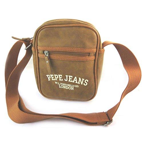 Pepe Jeans N6066 - Sac bandoulière marron vintage - 25x20x6 cm