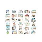Postkarten-Karikatur-Haus-Form-Gruß-Karten Set von 30