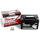 Batterie sans entretien YB4L de B Peugeot Ludix 50ELEGANCE, Speedfight 250AC, Speedfight 450AC (Steco Power)