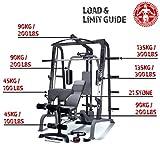 MARCY Luxus Smith-Maschine Heim-Gym mit Hantelbank Kraftstation, Schwarz, One Size - 4