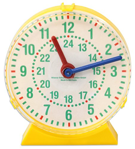 Schüleruhr A, 11 cm Durchmesser, Uhrzeiten lesen lernen, Uhr, kennenlernen, Rechnen lernen, Mathematik-Unterricht Schule Grundschule
