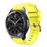Bracelet de montre pour Samsung Gear S3Frontier, Ihee souple en silicone de remplacement Sport Strap Bracelet pour Samsung Gear S3Frontier M jaune