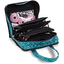 Funda para almacenar y organizar accesorios de costura, punto y manualidades, color verde azulado