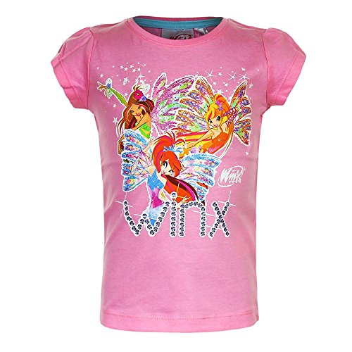 Winx club - ragazze t-shirt rosa dimensione 98 -128, t-shirt 86-164:98