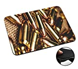 002245 - Army Scene Soldier Gun Bullet Design Macbook PC Laptop Anti-slip Mousepad Mouse Mat Tpu Leather Stark haftende