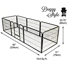 Doggy Style Heavy Duty Puppy Play Pen Playpen 8 x Panel Whelping Pen Pens 4 Sizes in this add EXTRA TALL (SMALL, SILVER)