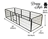 Doggy Style Heavy Duty Puppy Play Pen, Small, Silver, Pack of 8