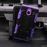 Cocomii Robot Armor Nokia Lumia 640 XL Hülle [Strapazierfähig] Gürtelclip Ständer Stoßfest Gehäuse [Militärisch Verteidiger] Ganzkörper Case Schutzhülle for Nokia Lumia 640 XL (R.Purple)