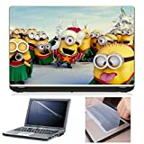 Laptop Skin (Minion) + Screen Guard + Keyboard Protector Combo by First Look Trend