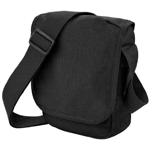 Bagbase Mini Schultertasche / Messenger-Tasche, 2 l Schwarz
