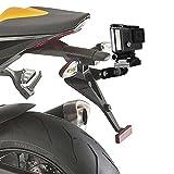 FIRST2SAVVV GO-MTC2-01 Aluminium Motorrad räger-Auto Nummernschild mount Adapter für GoPro Hero Session 4 /3+ /3 /2 /1 / SJCAM SJ4000 / SJ5000 / SJ6000 / Xiaomi Xiaoyi