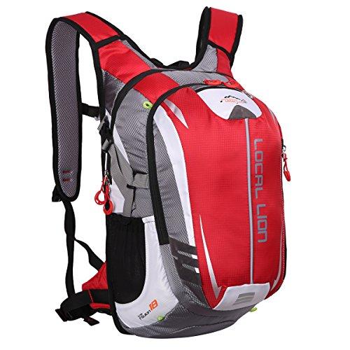 Outdoor local lion 18l zaino unisex per ciclismo borsa sportiva da trekking escursione ultraleggero alpinismo zaino per scuola(rosso)