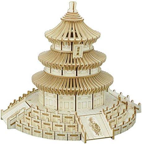 juler Beijing Temple of Heaven - - - boîte de Couleur 3D Puzzle en Trois DiHommes sions puzzlecutting TraiteHommes t Femmeuel de Construction de Jouets éducatifs,Jaune,Taille Unique | Shopping Online  5cc43f