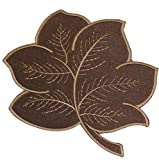 Plauener Spitze Tischdecke Herbst Stickerei Blatt Deckchen Decke Untersetzer Blätter Braun (24 cm)