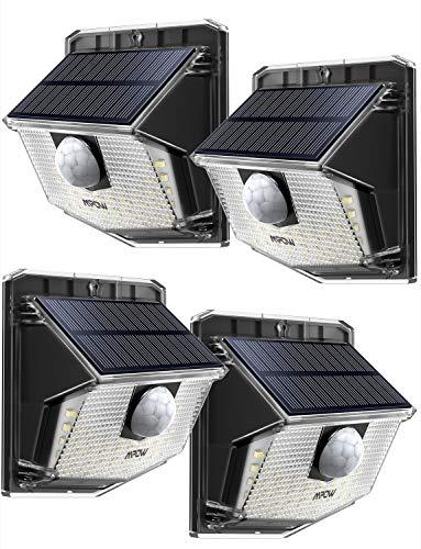 [4 Pezzi] Luce Solare Mpow 30 LED, Lampade Solari Esterna Con Sensore di Movimento PIR, IP65 impermeabile, 270° Illuminazione Grandangolare, 19.5{e2ad42e8b02b62cbe6b5fee4cbe8c54116f1c97780f24cf511f39261dcae882b} Efficienza di Conversione Per Giardino/Cortile/Garage