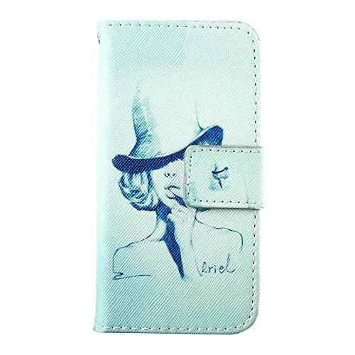MOONCASE pour Apple iPhone 5 / 5S Case Cuir Housse de Protection Coque en Portefeuille Étui à rabat Case DKS10 DKS08 #1221