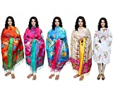 Indistar Women's Dupatta Combo 5(Pack of...