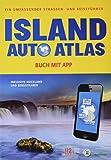 Island Auto Atlas & Reiseführer + Karte: Buch mit App -