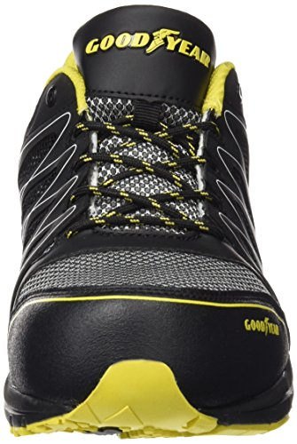 Goodyear GYSHU1502, Men\'s Safety Trainers, Black (Black/Yellow), 10 ...
