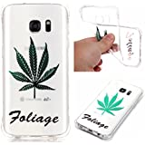 Pour Samsung Galaxy S7 Coque,Coffeetreehouse Coque Etui Silicone Transparente Gel TPU Bumper Anti Poussiere Resistance Anti-rayures Case Cover Couverture Pour Samsung Galaxy S7 - Maple Leaf
