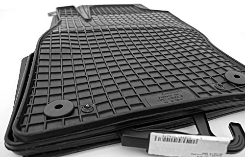 kh Teile Gummimatten 52210 Passform Gummi Fußmatten 4-teilig schwarz
