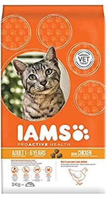 Iams for Vitality Cat Food with Fresh Chicken for Adult Cats, 3 kg by Spectrum