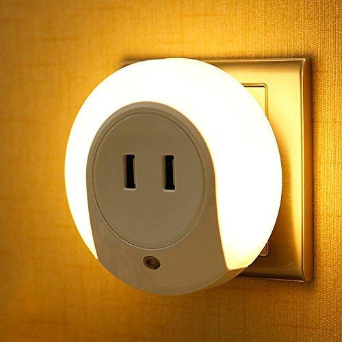 Hueliv luce notturna a LED e fotosensibile, Dual USB caricatore (5V 2A) per camera, Studio, Corridoio, Scalinata, vetrine