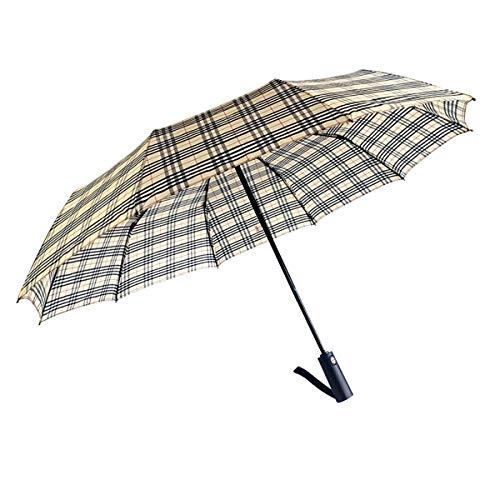 LXY* Regenschirm Taschenschirm windfest klein leicht kompakt - Stabiler Schirm mit Auf Zu Automatik Schwarz -