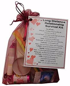 Long Distance Relationship Survival Kit Gift (Great novelty present for Girlfriend or Boyfriend for Valentines, Birthday, Christmas, Anniversary or just because...)