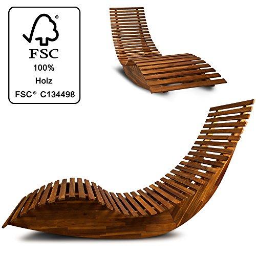 Deuba schwungliege fsc zertifiziertes akazienholz - Gartenliege ergonomisch ...