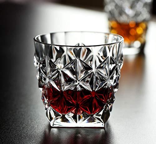 Ecentaur Whisky Glas Whiskey Gläser Kristall Whiskyglas Whiskygläser set 2 für Scotch Vodka Wein Trinken