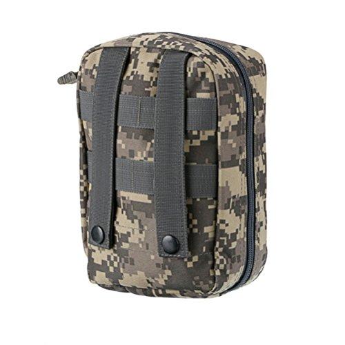 Qearly Compact Nylon Molle Erste Hilfe Tasch Erste Hilfe Kit-ACU Camouflage